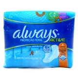 Absorvente Always Normal Abas 8 Unidades