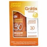 Kit Cenoura E Bronze Protetor Solar Fps 30 + Protetor Facial Fps 30